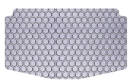 Clear Rubber-Like Compound Intro-Tech HY-657-RT-C Hexomat Cargo Area Custom Fit Floor Mat for Select Hyundai Santa Fe Models Small