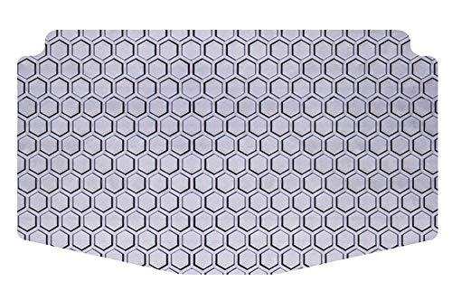 Intro-Tech Hexomat Cargo Area Custom Fit Floor Mat for Select Toyota Highlander Models w/3rd Row Up - Rubber-Like Compound, Small, Gray ()