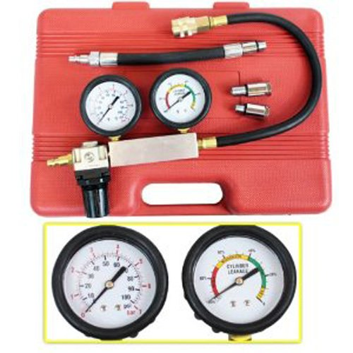 Engine Cylinder Leakdown Tester Dual Gauge Diagnostic Kit for Imports Domestic by PMD Products (Image #2)