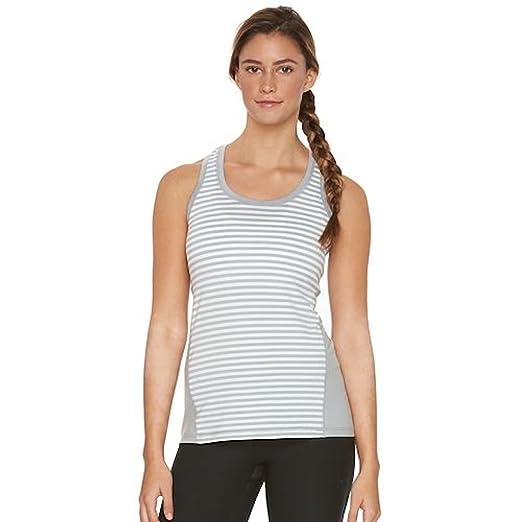 55b1153e62e Amazon.com  Womens Scoopneck Stripe Racerback Tank Top Sport Activewear  Shirt  Clothing