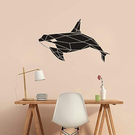 yaonuli Geometría Moderna Orca Orca Tatuajes de Pared Decoración ...