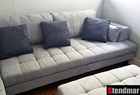 Amazon.com: Sofá chaise otomano seccionado, de ...