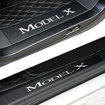 Topfit Alfeizar de puertas de coche Kit de protección de fibra de carbono pegatinas para modelo X: Amazon.es: Coche y moto
