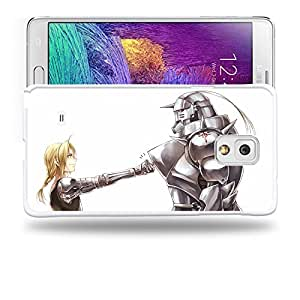 Case88 Designs Fullmetal Alchemist Brotherhood Edward and Alphonse Elric Protective Snap-on Hard Back Case Cover for Samsung Galaxy Note 4