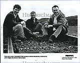 "1996 Press Photo ""Trainspotting"" Producer Andrew MacDonald,writer J Hodge"
