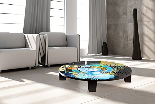 "TAF DECOR TAF-ATZAN-009A  ""King of Swords"" Art Coffee Table,"