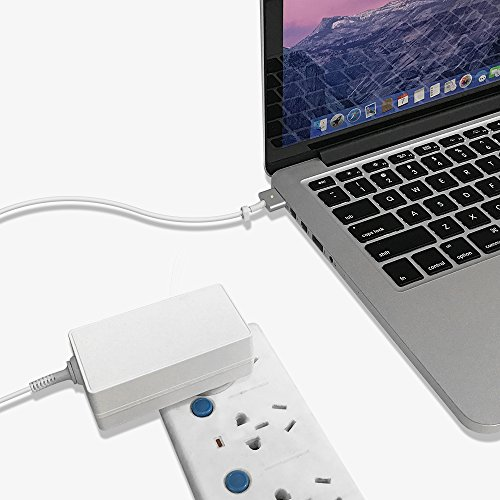 Qyd 45w-laptop-charger replacement magsafe-2-t tip-power-adapter for macbook-air 11''13'' md592ll/a md592b/a md223ch/a a1435 a1465 mqd32 a1466 a1436 8.2ft notebook-power-supply-ac-cord-cable by QYD (Image #2)