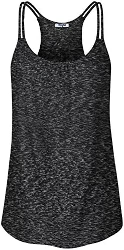 Hibelle Womens Scoop Neck Cute Racerback Yoga Workout Tank Top