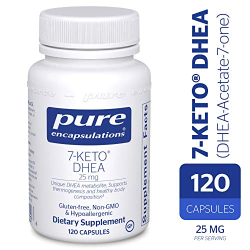 - Pure Encapsulations - 7-Keto DHEA (DHEA-Acetate-7-one) 25 mg - Unique DHEA Metabolite - Hypoallergenic Dietary Supplement - 120 Capsules