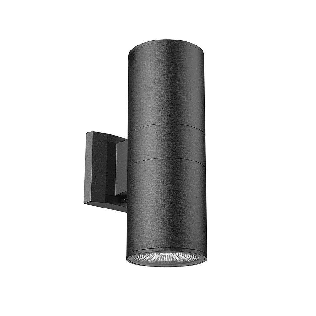 Lampada da parete per esterni, applique da parete a tenuta stagna in lega di alluminio LED, lampada da giardino semplice, lampada da parete per giardino, esterno, corridoio,Warmbianca,doublehead20W