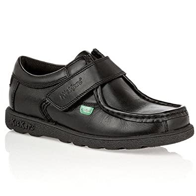 4c2798f440d76 Kickers Boys (Infants) Fragma Strap Leather School Shoes