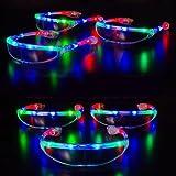 光る! ロボコップ フラッシュサングラス【RGBカラー】3段階切替え 光る! 動く! LEDサングラスはCLUB・音楽フェス・コンサート・パーティーで大活躍◎