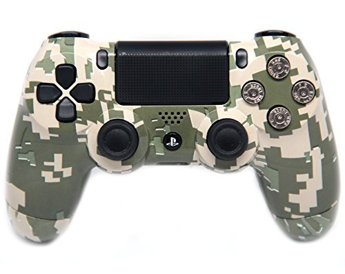 """""""Army Camo"""" Ps4 Modded Controller 9mm Bullet Buttons 40 Mods for All Major Shooter Games, Quick Scope, Sniper Breath, Burst Fire, Auto Aim, Jump Shot and More"""