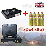 Pilot Imports PORTABLE GAS COOKER STOVE + 8...