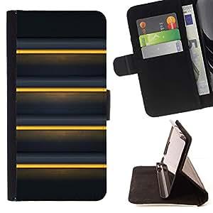 For Sony Xperia Z5 Compact Z5 Mini (Not for Normal Z5) Case , Black Yellow Sunshine Líneas- la tarjeta de Crédito Slots PU Funda de cuero Monedero caso cubierta de piel