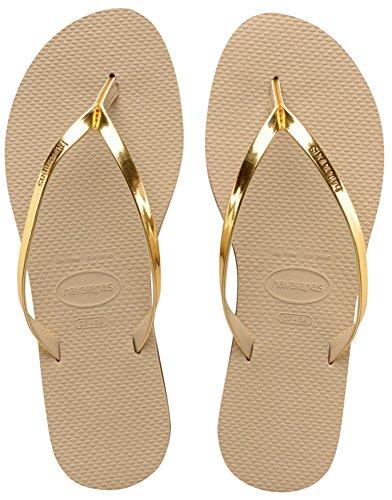Grey Sand 2719 Metallic You Dorado Light Sandalias Havaianas Mujer para Golden f6v0cRq