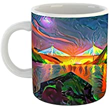 Westlake Art - Coffee Cup Mug - Landmarks Panama Canal - Modern Abstract Artwork Home Office Birthday Gift - 11oz (69m 7ef 1d9)