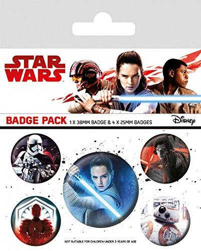 Episodio Jedi y X Paquete mm 4 mm 25 10 Personajes Viii Star 15 de Wars The de cm 1 insignias Last 38 44wqzXA