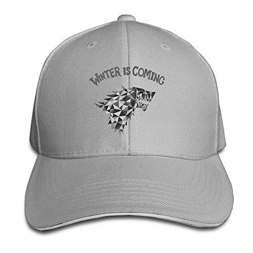 Visor Game Of Thrones-winter Is Coming Trucker Tats Ash Sandwich Peaked ()