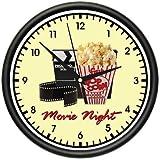 MOVIE NIGHT Wall Clock home theater theatre decor art Decor Home and Room