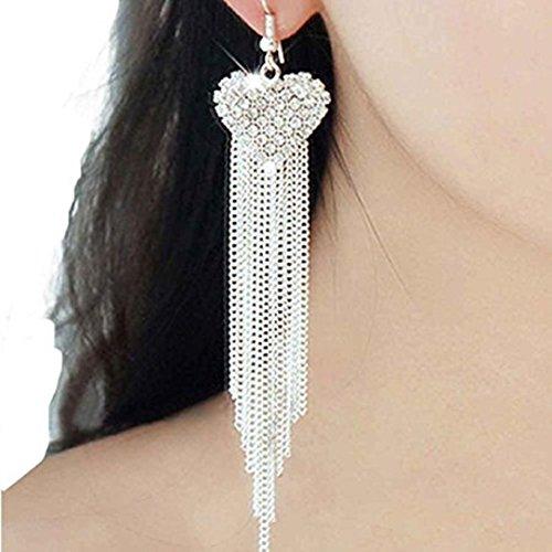 YABINA Crystal Dangling Earrings Accessories