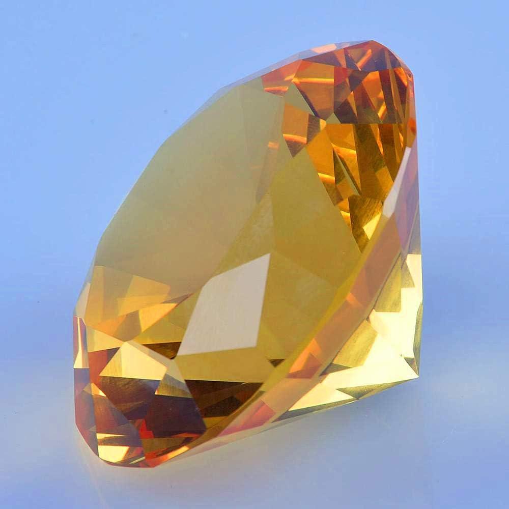 Amarillo TYGJB Cristal Tallado Diamante Figuras Miniaturas Artesan/ía Regalo Feng Shui Eventos de Boda para la decoraci/ón de la Mesa en casa Accesorios