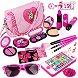 Toys : Kids Makeup Kit - Girl Pretend Play Makeup & My First Purse Toy for Toddler Gifts Including Pink Princess Purse, Smartphone, Sunglasses, Credit Card, Lipstick, Brush, Lights Up & Make Real Life Sounds