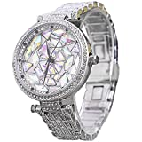 Auntwhale Elegant Crystal Decoration Bangle watch Chic Fashion Watches Luxury Rhinestone watch for Women ladies Girl Sliver & Colorful