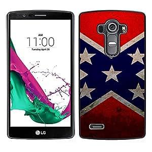 // PHONE CASE GIFT // Duro Estuche protector PC Cáscara Plástico Carcasa Funda Hard Protective Case for LG G4 / Star flag /