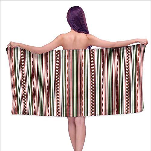 Tankcsard Luxury Bath Towels Abstract,Vertical Stripes Dots,W10 xL39 for Bathroom Striped ()