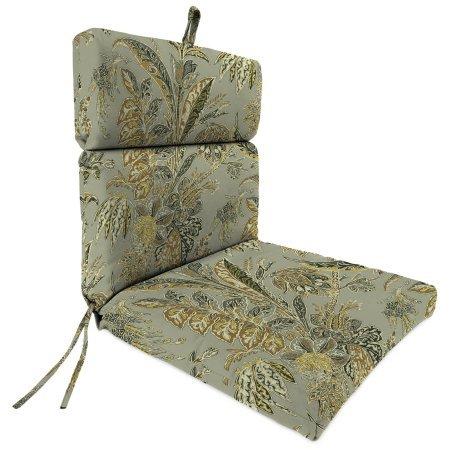 Jordan Manufacturing Outdoor Patio Chair Cushion, Cayo Vista Black Sand (Set of 2) (Cushions Jordan Replacement)