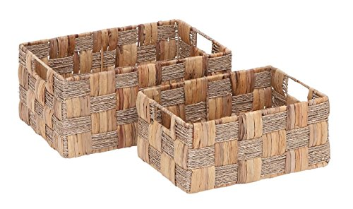 Deco 79 Metal Wicker Basket, 16 by 13-Inch, Set of 2 price