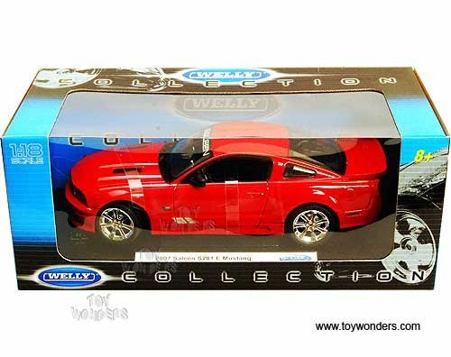 (12569r Welly - Saleen S281 E Mustang Hard Top (2007, 1:18, Red) 12569 Diecast Car Model Auto Vehicle Die Cast Metal Iron Toy Transport)