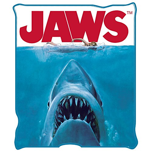 """Jaws Movie Poster Throw Blanket, 50 by 60"""" Home Garden ..."""