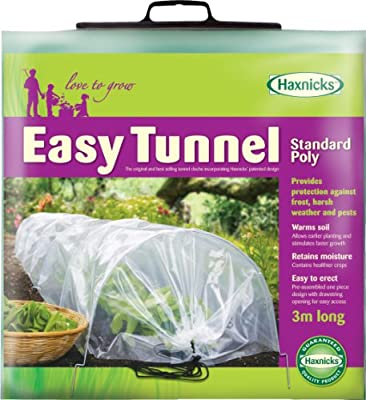 Tierra Garden 50-5060 Haxnicks Easy Polyethylene Tunnel Garden Cloche, Cover and Protect Plants from Harsh Weather, Animals, and Insects, Standard Protective Dome for Your Garden by Haxnicks Ltd