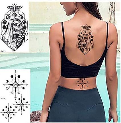 ruofengpuzi Adesivo tatuaggioMuerte Cráneo Iglesia Etiqueta ...