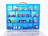 Tsum Tsum Mini Toys Carrying Case - Stores Dozens Of Tsum Tsum Mini Figure And Toys - Durable Toy Storage Organizers By Life Made Better - Blue