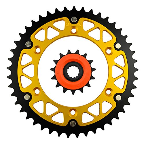 Price comparison product image AHL Front & Rear Sprocket Kit for Suzuki 350 DR350 USA 1990-1999 (15T-45T)