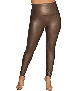 a4c77f416ccf1 SPANX Women's Plus Size Faux Leather Leggings Night Navy 1X 27 ...
