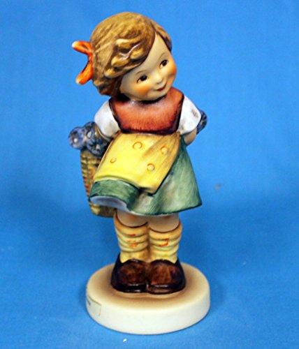 "Hummel Figurine, 377 Bashful (Girl Flower Basket), 4.7"" H"