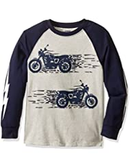Gymboree Boys' Big Boys' Long-Sleeve Graphic Tee with Sleeve Detail