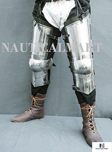 Knight Leg Armor (NAUTICALMART SCA Combat Leg Armor, Plate Legs, cuisses with)