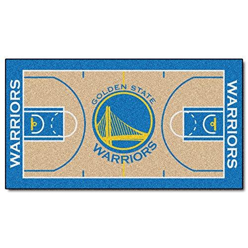 FANMATS NBA Golden State Warriors Nylon Face NBA Court Runner-Small - Court Runner Carpet