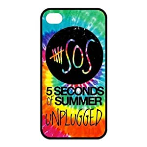 AMAF ? Accessories Custom Design 5 Seconds of Summer 5sos TPU Snap On Cover Case For iPhone 4 4s [ 5 sos ]
