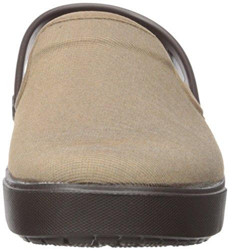 Crocs Unisex Adulti Tela Di Cotone Marrone Zoccolo (kaki / Espresso)