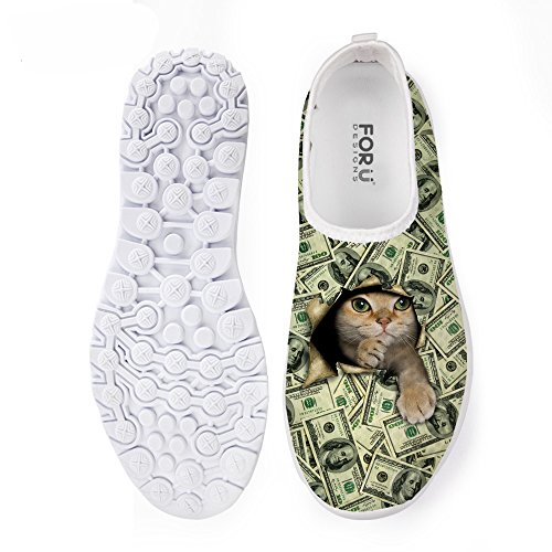 Bigcardesigns Womens Animal Cat Cane Scarpe Da Corsa Sneakers Leggero Cat 4