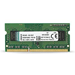 Kingston Value Ram 4gb 1333mhz Pc3-10600 Ddr3 Non-ecc Cl9 Sodimm Sr X8 Notebook Memory (Kvr13s9s84)
