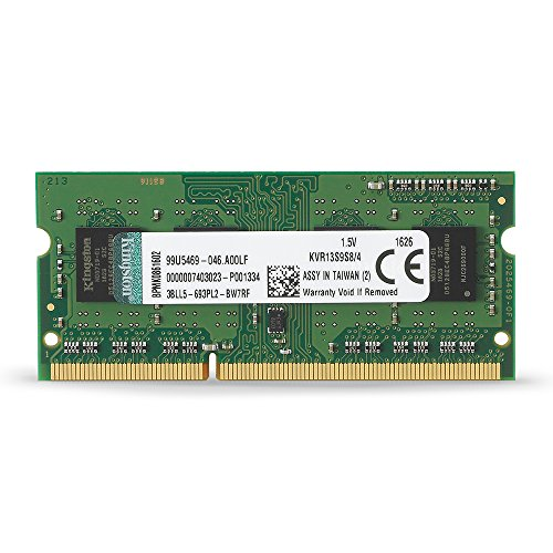 Kingston Value RAM 4GB 1333MHz PC3-10600 DDR3 Non-ECC CL9 SODIMM SR X8 Notebook Memory ()