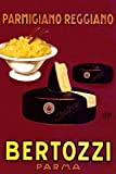 "CHEESE Parmigiano Reggiano Bertozzi Italy Italia Italian Kitchen Restaurant Art, Spaghetti Pasta Food 20"" X 30"" Image Size Vintage Poster Reproduction, We Have Other Sizes Available on Amazon"