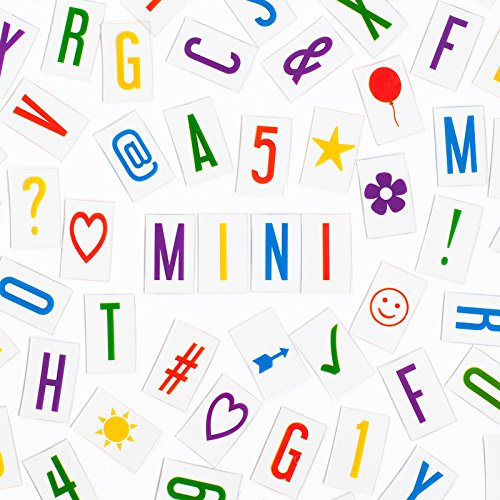 Mini Letters (Vibrant Letter Pack for MINI My Cinema Lightbox - 100 letters, numbers, characters, &)
